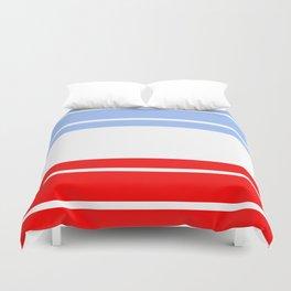 TEAM COLORS 9...Red,light blue, white Duvet Cover