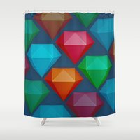 diamonds Shower Curtains featuring Diamonds by Andrew Leif Hanssen