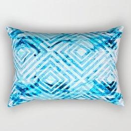 Abstract Liquid Paint Pattern Rectangular Pillow