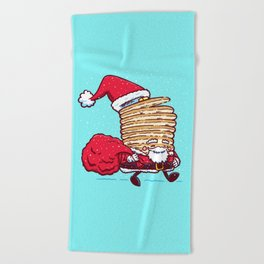 Santa Pancake Beach Towel