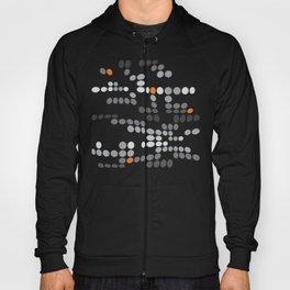 Dottywave - Grey and orange wave dots pattern Hoody