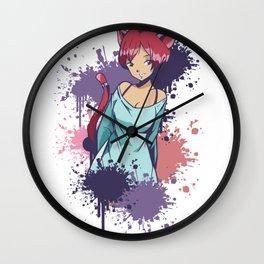 Waifu Catgirl Wall Clock