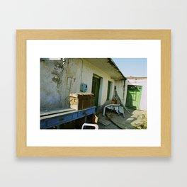 abandoned chest Framed Art Print