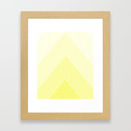 Shades of Yellow Abstract geometric pattern Framed Art Print