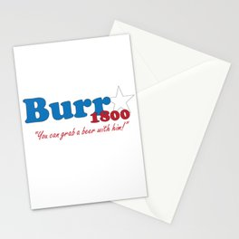 Vote for Burr- Election of 1800 Stationery Cards