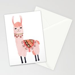 Cute Lama Sticker Stationery Cards