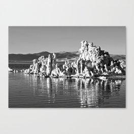 Tufa Reflections at Mono Lake Canvas Print