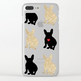Dazzling French Bulldogs Clear iPhone Case