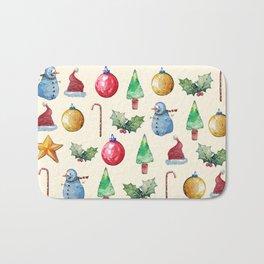 Christmas!! Pattern! (Holidays) Bath Mat