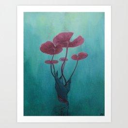 Drowning Lily Art Print