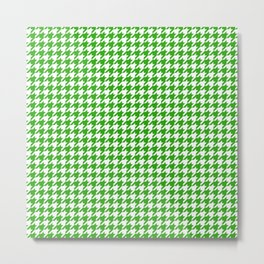 Friendly Houndstooth Pattern, green Metal Print