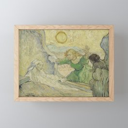 The Raising of Lazarus (after Rembrandt) Framed Mini Art Print