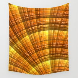 Golden Hour Fractal Art Wall Tapestry