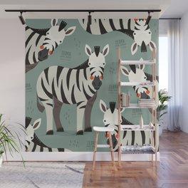 Zebra, African Wildlife Wall Mural