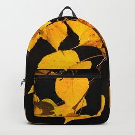 Autumn Foliage Yellow Leaves #decor #buyart #society6 Backpack