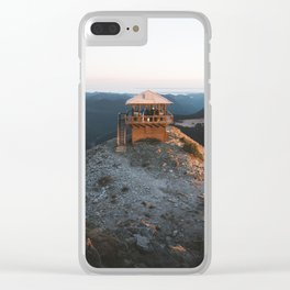 Fire Lookout in the Mountains Clear iPhone Case