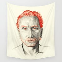 tim burton Wall Tapestries featuring Tim Roth by Creadoorm