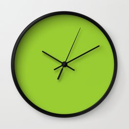 Yellow-Green Wall Clock