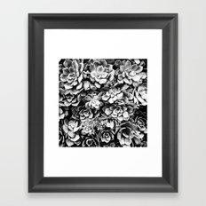 Black And White Plants Framed Art Print