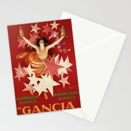 Vintage 1921 Italian Gancia Vermouth Advertisement by Leonetto Cappiello Stationery Cards
