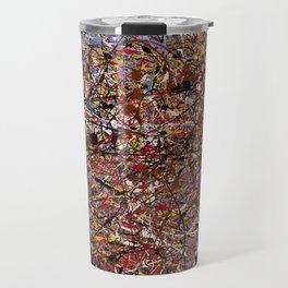 ELECTRIC 071 - Jackson Pollock style abstract design art, abstract painting Travel Mug