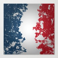 france Canvas Prints featuring France by Flat Design