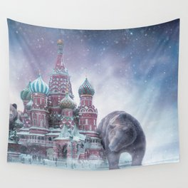 From Russai with Bears Wall Tapestry
