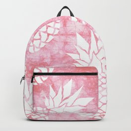 Pineapple Tropical Pink Shibori Pattern Backpack