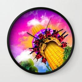 Corn & Raised Wall Clock
