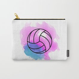 Volleyball Watercolor Carry-All Pouch