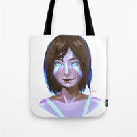 the legend of korra Tote Bags featuring Korra  by JemyArt