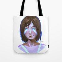 korra Tote Bags featuring Korra  by JemyArt