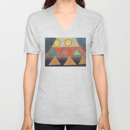 Clear the Stage for the Geometry Show Unisex V-Neck