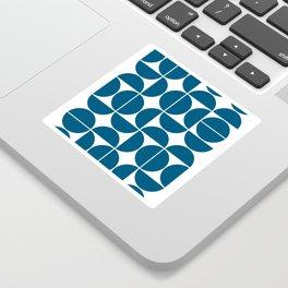 Mid Century Modern Geometric 04 Blue Sticker
