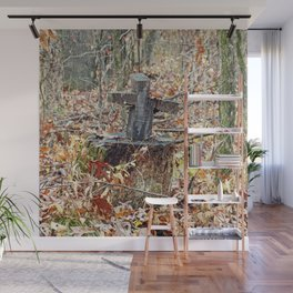 Cross in the Woods Wall Mural