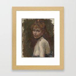 Edouard Manet portrait of Mary Laurent Framed Art Print