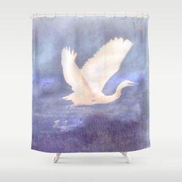 White bird Shower Curtain