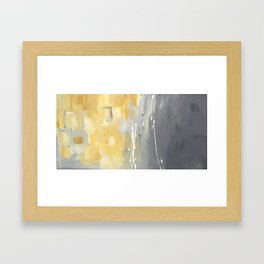50 Shades of Grey and Yellow Framed Art Print