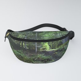 cabin in the woods with steps Fanny Pack