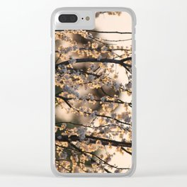 Cherry Plum at Sunset Clear iPhone Case