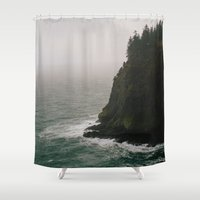 oregon Shower Curtains featuring Oregon Coast: IV // Oregon by Corrie Mick