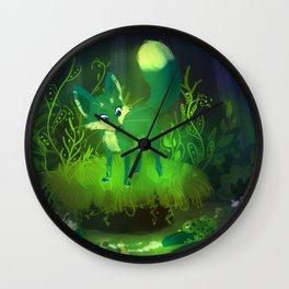 Green Fox Wall Clock