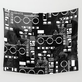 Robot Plans Wall Tapestry