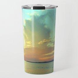 Sunset on Lake Constance Travel Mug