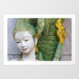 Face of serenity Art Print