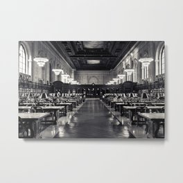 The New York Public Library Rose Reading Room Metal Print
