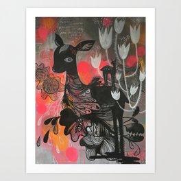 Killer Tulips Art Print