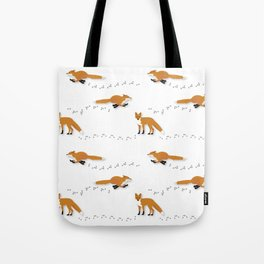 Fox Tracks Tote Bag