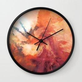 Warm Abstract Wall Clock