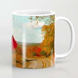 Red and White Barns and Fall Colors Coffee Mug